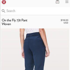 Lululemon On the Fly pant